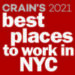 Crain's 2021 Best Places to Work in New York City